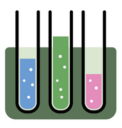 chemical test tube icon vector image vector image