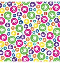colorful swirl pattern background vector image vector image