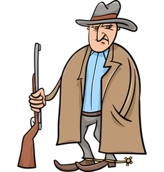 Cowboy cartoon vector