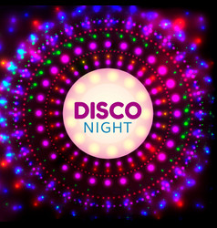 disco night banner2 vector image vector image