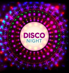 disco night banner2 vector image