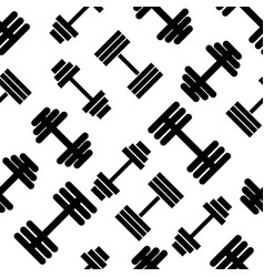 dumbbell pattern seamless flat style for web vector image