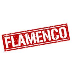 Flamenco square grunge stamp vector