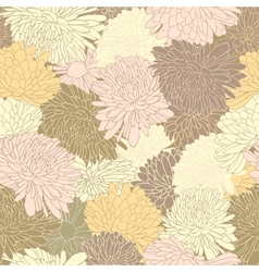 Floral pattern background with chrysanthemum vector