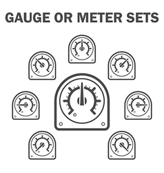 Gauge meter vector