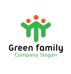 Green Family Design vector image