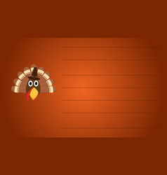Greeting card turkey style thanksgiving collection vector