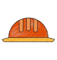 Helmet construction isolated icon vector