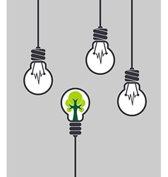 Lamp with tree inside different among the others vector image vector image