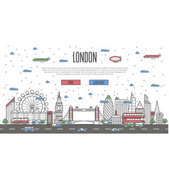 London skyline with national famous landmarks vector
