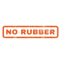 No rubber rubber stamp vector