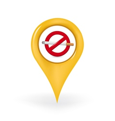 No Smoking Location vector image