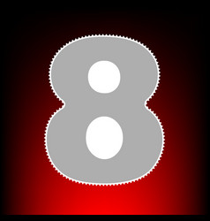 Number 8 sign design template element postage vector