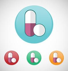 Pills icon set vector image