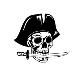 pirate and dagger vector image vector image