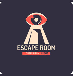 real-life room escape and quest game poster vector image vector image