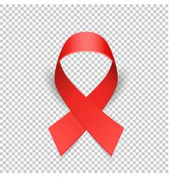 Red ribbon solidarity awareness symbol vector