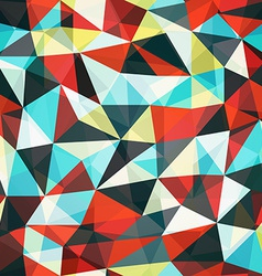 Retro mosaic triangle seamless pattern vector