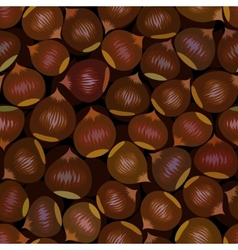 seamless chestnut background vector image