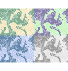 Set of city maps vector image vector image