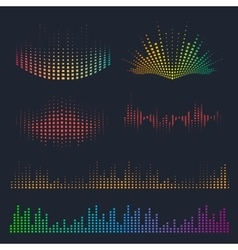 Sound waves design vector