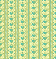 Striped heart pattern vector image vector image