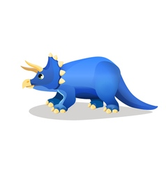 Styracosaurus spiked lizard isolated on white vector image vector image