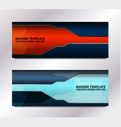 tech banner template vector image vector image
