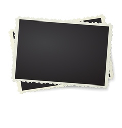 Two photo in retro frame isolated vector image vector image