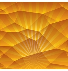Abstract 3D geometric orange background vector image