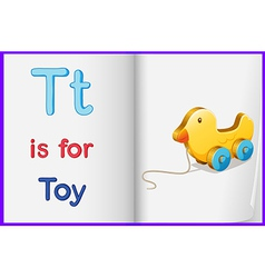 A picture of a toy in a book vector