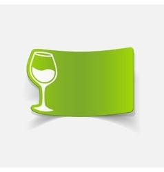 Realistic design element wineglass vector