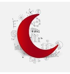 Drawing business formulas moon vector