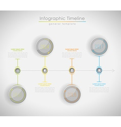 Colorful Infographic typographic timeline report vector image