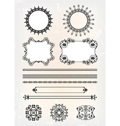 set of abstract decor pattern vector image