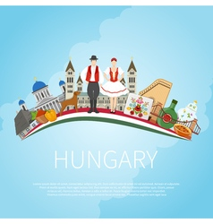 Visit hungary cloud concept vector
