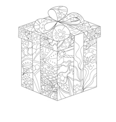 Painted gift vector