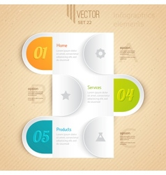 Business infographic tab vector