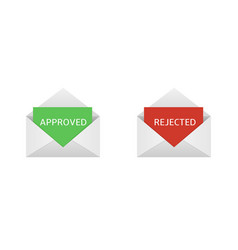 Approved and rejected letters vector