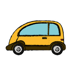 yellow car vehicle transport vector image