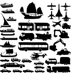 Transportation silhouette vector
