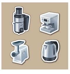 kitchenware stickers vector image