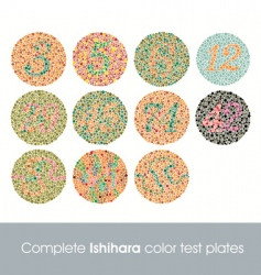 Complete ishihara color test vector