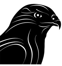 Hawk eagle head silhouette vector