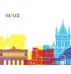 Naples skyline pop vector image