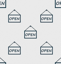 Open icon sign seamless abstract background with vector