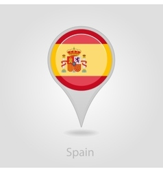 Spanish flag pin map icon vector