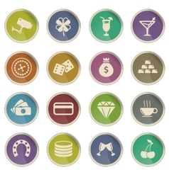 Casino simply icons vector