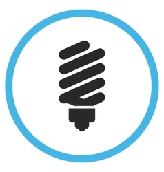 Fluorescent bulb flat rounded icon vector