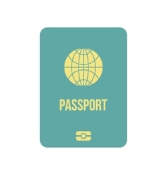 Passport icon flat vector